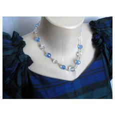 Exceptional English 2-Color Crystal Necklace