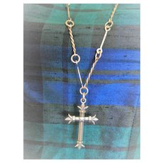 REDUCED: Unusual Silver Chain with Silver Cross