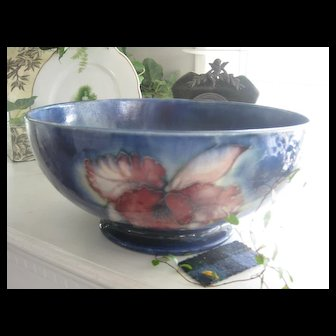 "Reduced: Early 1900s LARGE Moorcroft ""Iris""Bowl AS IS"
