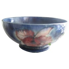 """Reduced: Early 1900s LARGE Moorcroft """"Iris""""Bowl AS IS"""