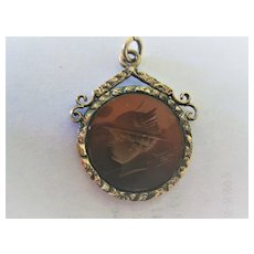 "Victorian 9ct Rose Gold/Carnelian Fob ""Asterix"""