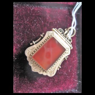 Victorian GF Locket w/Carnelian and Onyx