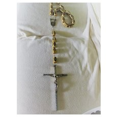 6 ft Long Vintage Our Lady of Fatima Rosary w/Crucifix