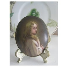 Antique Hand-Painted Porcelain Miniature