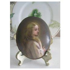 Antique Hand-Painted Porcelain Miniature