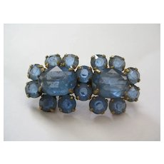 Pretty Blue Stone Vintage Brooch