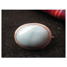 Sweet Little Robin's Egg Blue Silver Pin