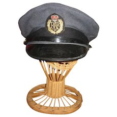 Vintage RAF (Royal Air Force) Cap and Badge