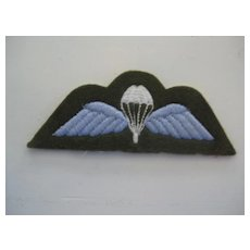 RAF (Royal Air Force) Wings (brown/blue background)