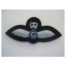 "RAF (Royal Air Force) Wings (gray background) ""G"""