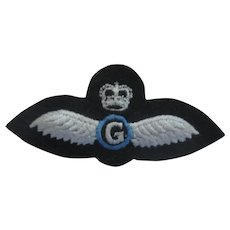 """RAF (Royal Air Force) Wings (gray background) """"G"""""""