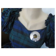 Antique Scottish Plaidie Brooch w/Thistles