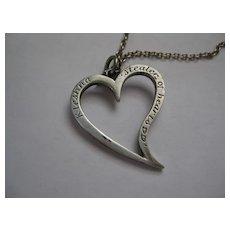 """Vintage Silver Kleshna """"Stealer of Hearts"""" Pendant"""