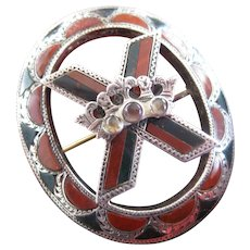 Victorian Scottish St. Andrew's Cross Brooch/Pendant