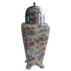 "English Chintz ""Midwinter"" Sugar Shaker"