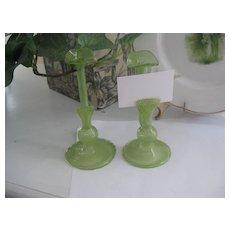 Early Venetian Glass Bud/Place card Holders