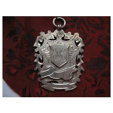 Large c1909 Hallmarked Silver Medal/Fob
