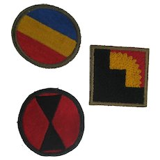 SET OF 3.  U.S. Military Patches