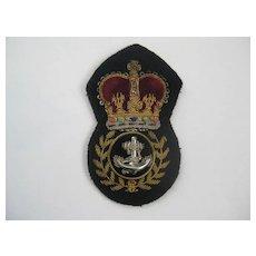 Vintage British Bullion Badge/Velvet Crown/Anchor