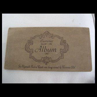"Vintage Cards Holder for Cigarette ""Military Uniforms"" Card w/15 cards"