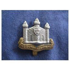 Vintage Cambridgeshire Regimental Badge