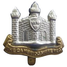 Vintage Cambridgeshire Regimental Badge