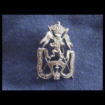 Vintage Military Badge Belgium