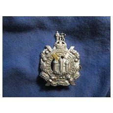 Vintage British King's Own Scottish Borderers Badge