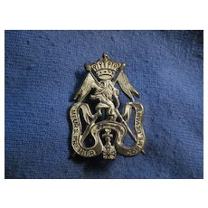 Vintage Military Badge from Belgium