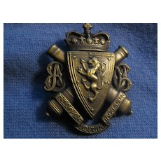 Awesome Scottish Badge with Lion Rampant