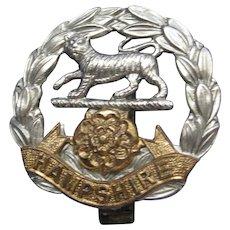 Vintage Royal Hampshire Cap Badge
