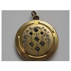 "Pretty Vintage Gold Colored Locket ""C"""