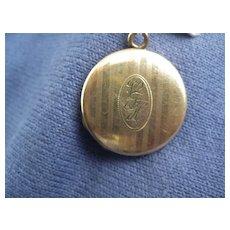 Pretty Vintage Locket, Gold Filled Initials V.F.H.