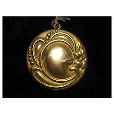 Pretty Art Deco Gold/Brass Locket