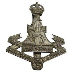 British Vintage Princess of Wales Own Yorkshire Regiment Cap Badge
