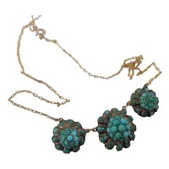 Early 1900s Persian Turquoise Necklace