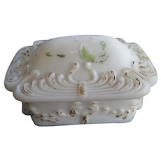 Late 1800s Soap Dish with Lid