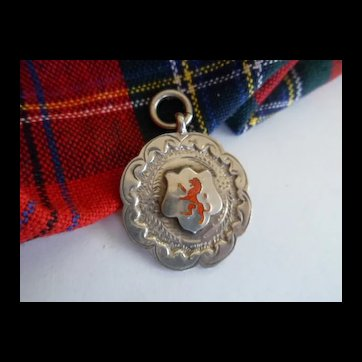 c1920 Scottish Silver Medal with Red Rampant Lion