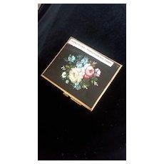 English Black/Floral Cigarette Case/Card Holder by Gwenda