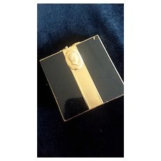 REDUCED: Vintage Black/Gold Color Compact AS IS