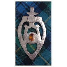 Lg Scottish Luckenbooth w/Cairngorm Stone-Handcrafted