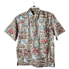 Vintage 1995 Men's Reyn Spooner Mele Kalikimaka Shirt sz L