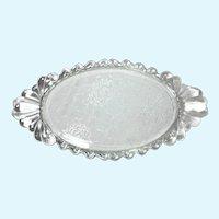 Vintage 1940s Art Deco Glass Vanity Perfume Dresser Tray