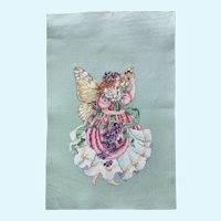 Vintage Counted Cross Stitch, Fairy Queen of Butterflies