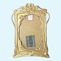 Art Nouveau 1901-10 Ormolu Pressed Brass Picture Frame