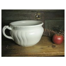 Great Old White Ironstone Chamber Pot ~ Johnson Bros.- England