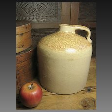 Old Beehive Salt Glaze Stoneware Jug w/ Orange Peel Surface