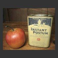 Grandpa's Early Old Instant Postum Beverage Tin - Battle Creek, Michigan