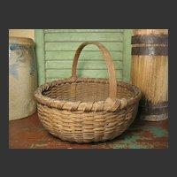 Granny's Early Old Authentic Woven Splint Farm Basket