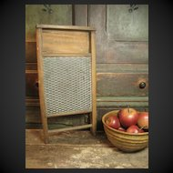 Granny's Old Wood and Tin Washboard